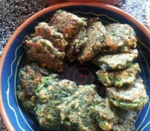 spinazie / snijbiet beignets